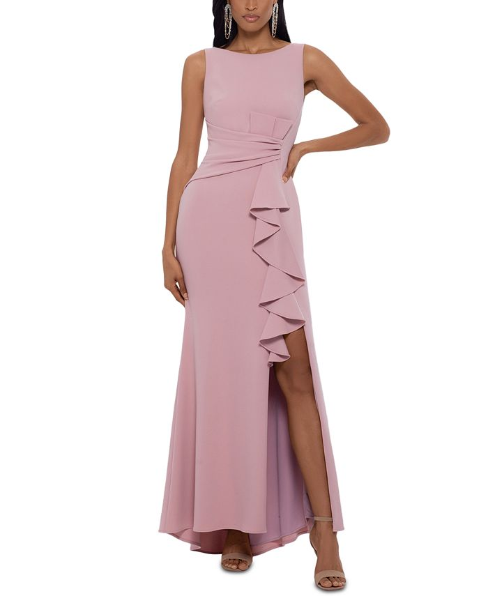 Betsy & Adam - Petite Boat-Neck Bow Gown
