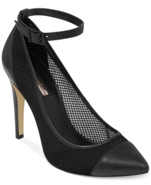 BCBGeneration Cynthia Ankle Strap Mesh Pumps Women's Shoes