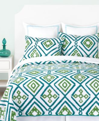 CLOSEOUT! Trina Turk Ventura Ikat Embroidered Full/Queen Quilt