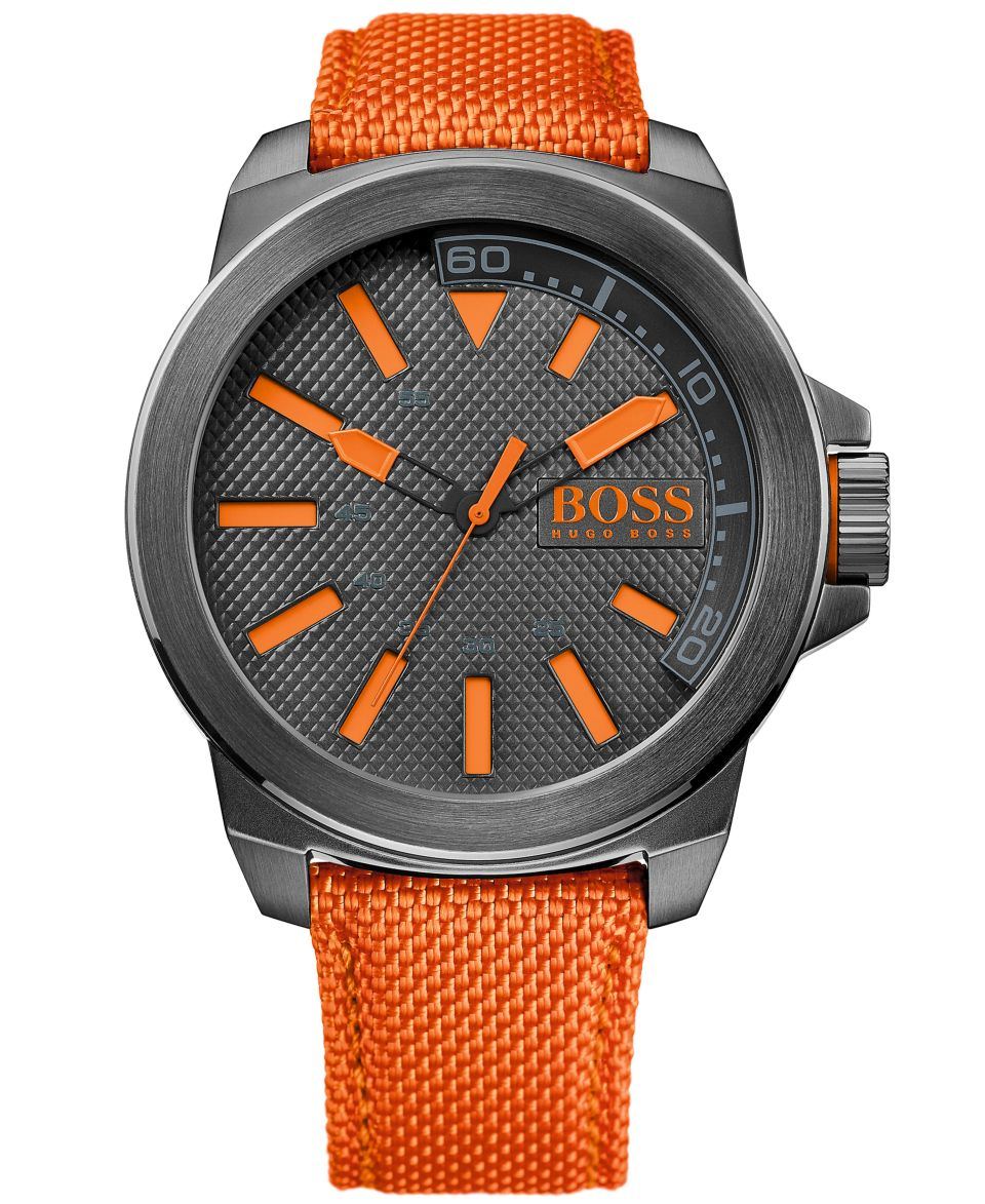 Emporio Armani Watch, Mens Chronograph Orange Rubber Strap 46mm AR5987   Watches   Jewelry & Watches