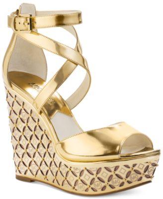 Gold Wedge Heels