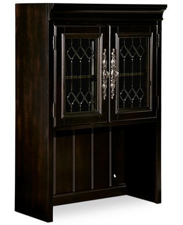 Goodwin Ebony Home Office Door Hutch Furniture Macy 39 S