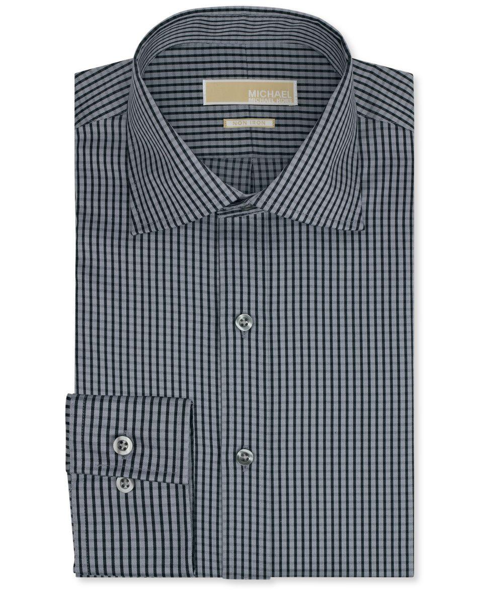 Michael Michael Kors Dress Shirt, Non Iron Raisin Stripe Long Sleeved Shirt   Dress Shirts   Men