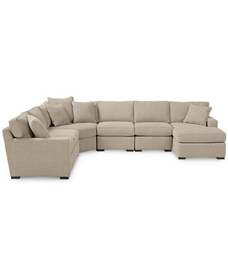 Radley Fabric 6-Piece Chaise Sectional Sofa - Furniture ...