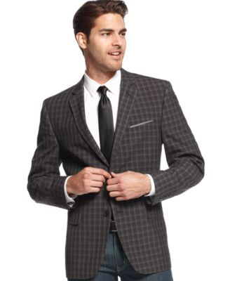 Plaid Mens Blazer
