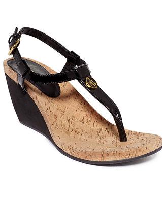 Lauren Ralph Lauren Reeta Wedge Thong Sandals Shoes Macy S