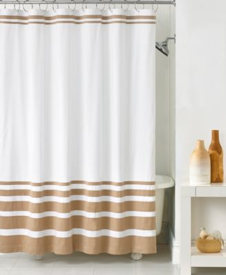 CLOSEOUT! Hotel Collection Gradient Stripe Shower Curtain