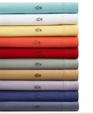 Lacoste Pair of Brushed Twill King Pillowcases Bedding