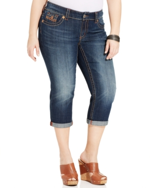 Seven7 Jeans Plus Size Cropped Jeans, Unstoppable Wash