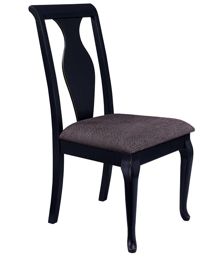 Furniture - Branchville Black Urn Back Side Chair