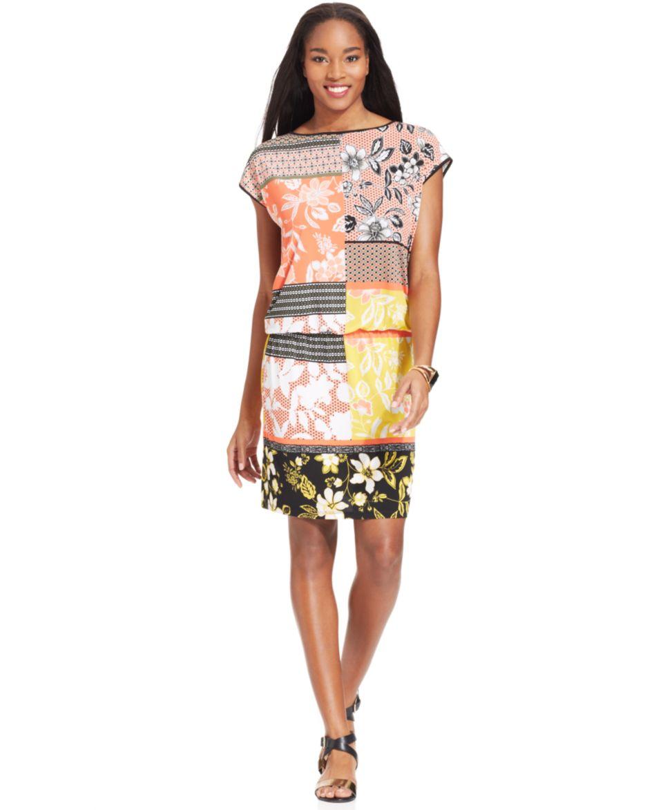 Bar III Floral Print Dress   Dresses   Women