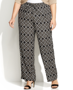 Calvin Klein Plus Size Printed Soft Pants