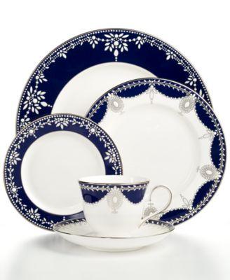 Marchesa by Lenox Dinnerware, Empire Indigo 5 Piece Place Setting