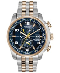 citizen watches macy s citizen men s eco drive world time a t two tone stainless steel bracelet watch 47mm at9014 51l a macy s exclusive