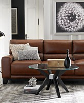 Luke Ii Leather Sofa Living Room Furniture Collection