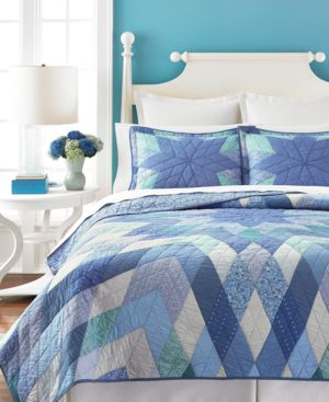 Closeout! Martha Stewart Collection Diamond Star Twin Collector's Quilt Bedding