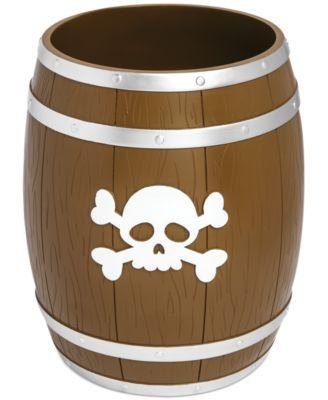 Kassatex Bath Accessories, Pirates Trash Can