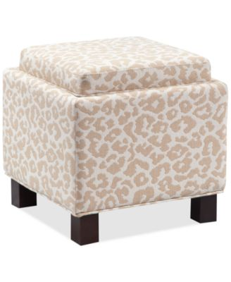 Kylee Fabric Red Dot Accent Storage Ottoman with Pillows, Direct
