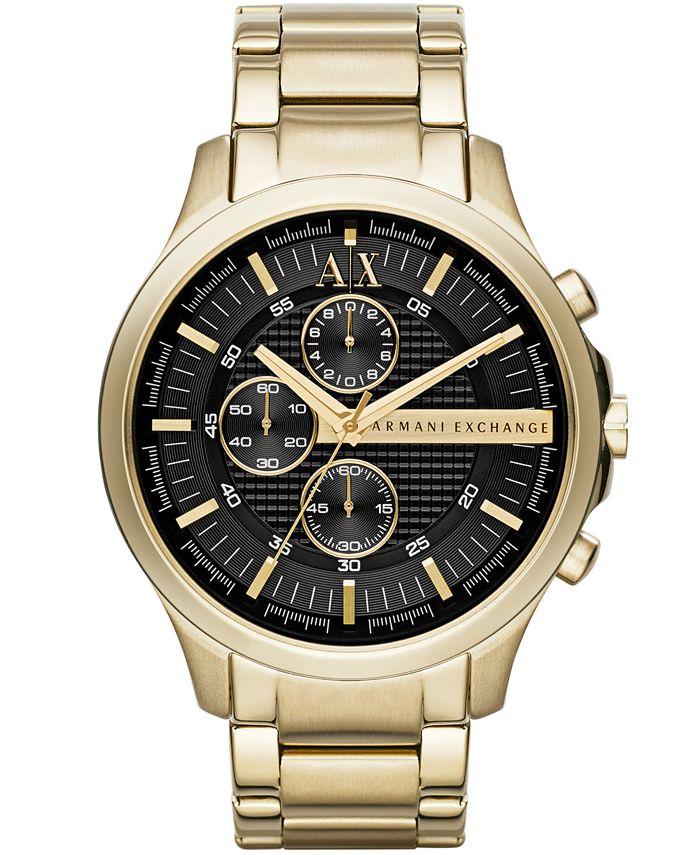 A|X Armani Exchange - Women's Gold-Tone Stainless Steel Bracelet Watch 46mm X2137