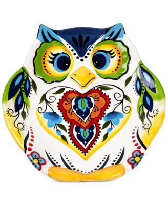 Espana Bocca Figural Owl Salad Plate