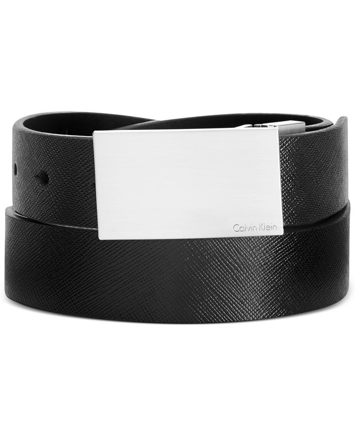 Calvin Klein - Saffiano Leather Reversible Dress Belt