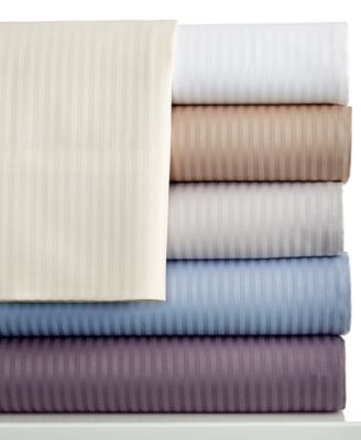 Charter Club 400 Thread Count Wrinkle Resistant Tailored Fit Stripe King Sheet Set
