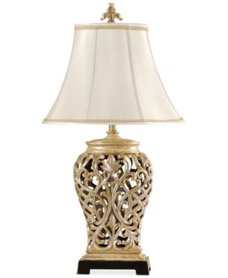 StyleCraft Open-Lace Scroll Table Lamp