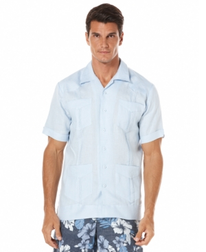Cubavera Guayabera Linen Shirt $54.99 AT vintagedancer.com