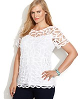 White Lace Top Shop For A White Lace Top At Macy S