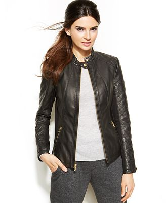Inc International Concepts Quilted Faux Leather Moto