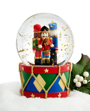 Holiday Lane Nutcracker Snow globe