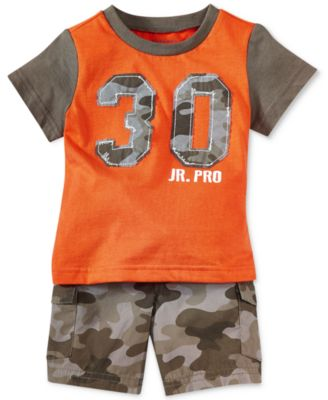 First Impressions Baby Boys' Appliqued Tee & Camo Shorts