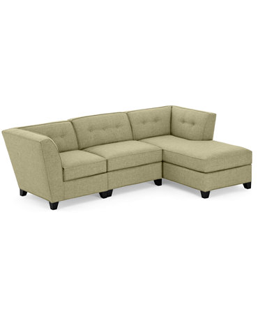 Harper fabric 3 piece modular chaise sectional sofa for Harper fabric 5 piece modular sectional sofa