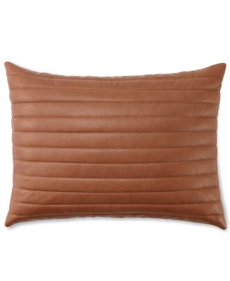 "Ralph Lauren Costa Azzurra 12"" x 16"" Leather Decorative Pillow"