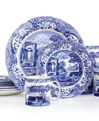 "Spode ""Blue Italian"" 12-Piece Dinnerware Set, Service for 4"