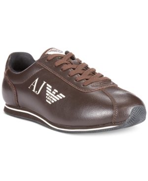 Armani Jeans Low Lace-Up Sneakers Mens Shoes