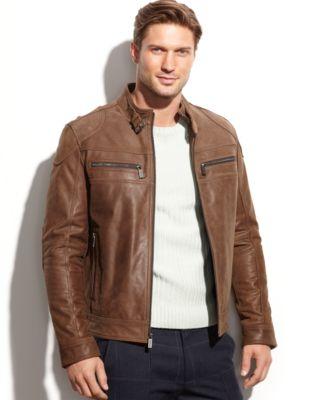 Brown Mens Leather Jacket wrA2II