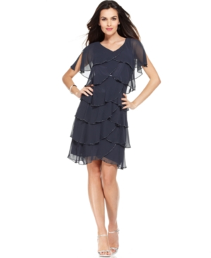 Patra Split-Sleeve Tiered Dress $159.00 AT vintagedancer.com