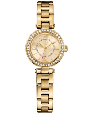 Juicy Couture Women's Luxe Couture Gold-Tone Stainless Steel Bracelet Watch 25mm 1901154
