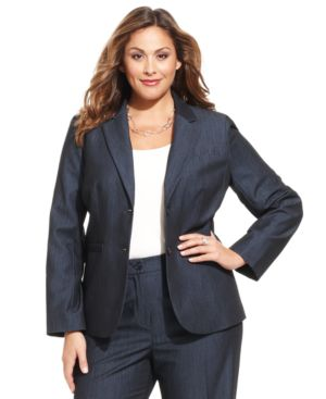 Jones New York Collection Plus Size Olivia Two-Button Blazer