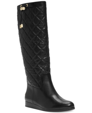 Michael Michael Kors Lizzie Quilted Boots Womens Shoes