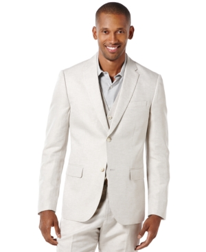 Perry Ellis Linen Blend Blazer $119.99 AT vintagedancer.com