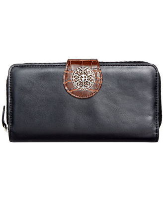 Giani Bernini Florentine Glazed Leather Filigree All In One Wallet