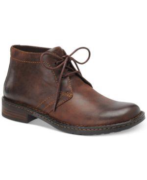 Born Harrison Casual Plain Toe Boots Men's Shoes