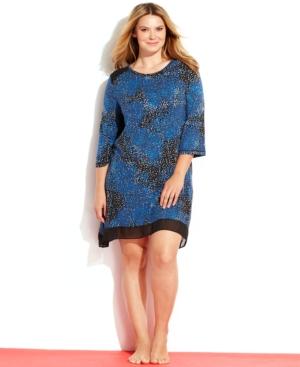 DKNY Plus Size 3/4 Sleeves Sleepshirt