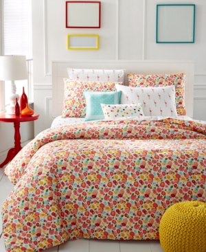Martha Stewart Whim Collection Pretty in Poppy 5-Pc. Full/Queen Comforter Set Bedding