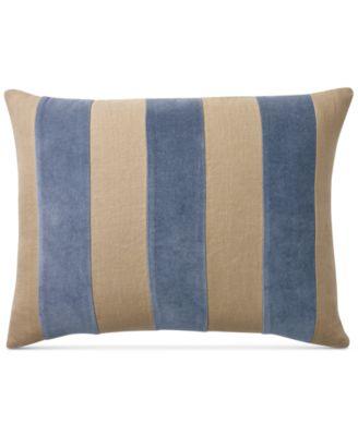 "Ralph Lauren Isla Menorca Velvet 15"" x 20"" Decorative Pillow"