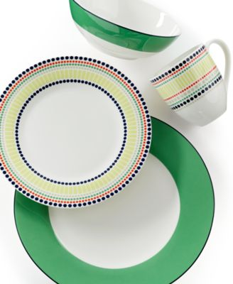 kate spade new york Dinnerware, Hopscotch Drive Green 4-Piece Place Setting