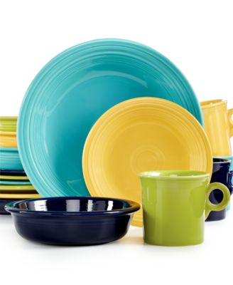 Fiesta Mixed Cool Colors 16-Piece Set, Service for 4