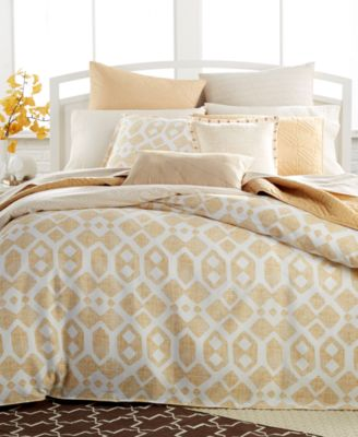 Bar III Modis Gold Full/Queen Duvet Cover